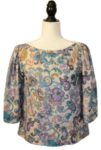 See by Chloé Top Pastel Floral Pattern