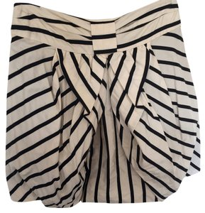 Eva Franco Striped Mini Skirt Black and White