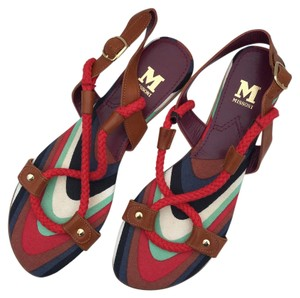 M Missoni Red, Brown Sandals