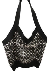 bebe Black and grey Halter Top