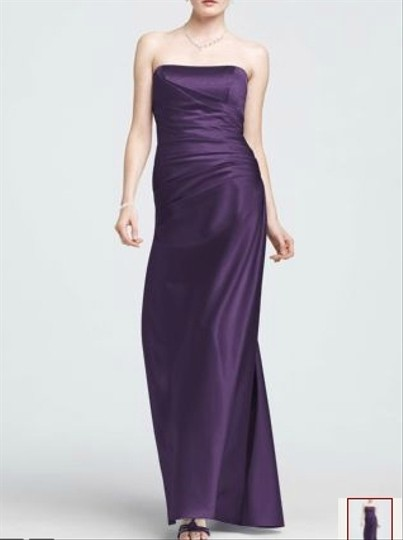 David's Bridal Purple Lapis F13974 Dress
