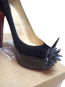 Christian Louboutin Heels Loubs Studded High Heels Black Sandals