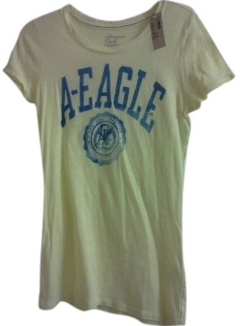 Preload https://img-static.tradesy.com/item/130814/american-eagle-outfitters-yellow-signature-graphic-tee-shirt-size-8-m-0-0-650-650.jpg