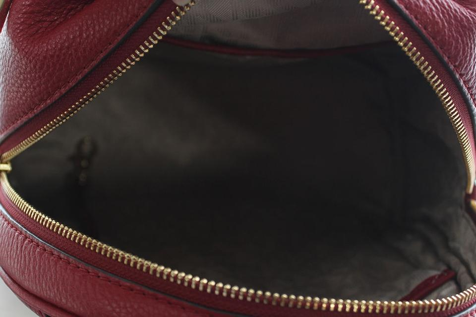 08e0794e92fe Michael Kors Rhea Zip Small Studded Cherry Leather Backpack - Tradesy