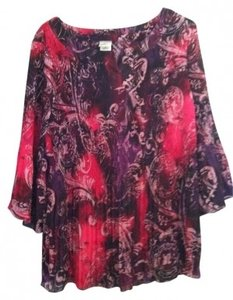 Just My Size Micro Pleat Top pink, purple