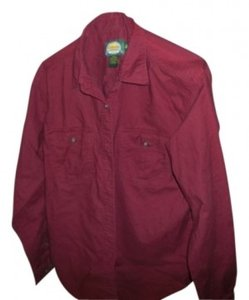 Cabela's Button Down Shirt Burgundy