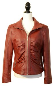 Adler Collection Dark Red Leather Jacket