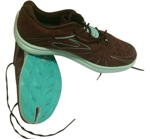 Lightweight Brooks Running Shoes Brown & Aqua Athletic