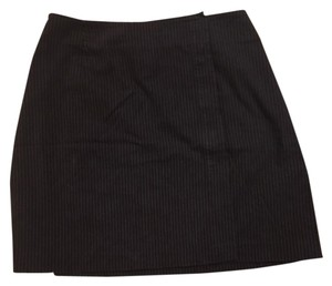 Dolce&Gabbana Mini Skirt Black and Brown Stripes