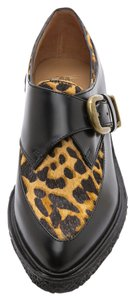 Belle by Sigerson Morrison Creepers Buckle Crepe Black Camel Leopard Flats