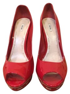 Miu Miu Red Platforms
