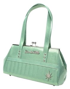 Lux De Ville Satchel in Sea foam green