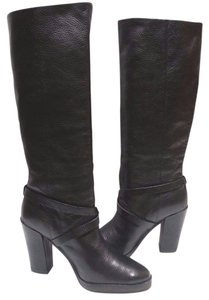 Kate Spade Grainy Napa Leather Black Boots
