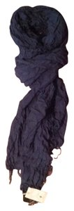 AllSaints Allsaints Spitalfields wrinkled cotton scarf blue NWT
