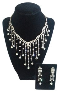 Vintage Mid-Century Vintage Mid-Century Rhinestone Evening Necklace Set