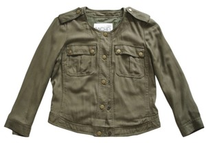 Rachel Roy Roy Roy Cropped Military Collarless military green Jacket