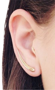 VALE Swoosh 14K Yellow Gold Earrings