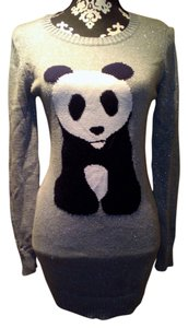 Sweater Project Knit Crochet Panda Sparkly Longsleeve Sweater