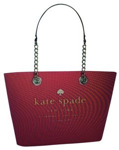 Kate Spade Pink Zinnia Small Coal E Broadway Tote in Zinnia Pink