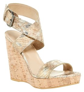 Stuart Weitzman Cork Wedge Honey Wedges