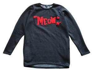 Fleece Sweatshirts Top dark grey