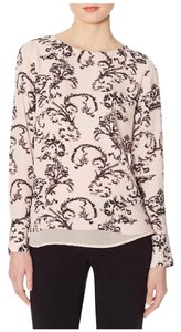 The Limited Printed Layered Pink Scroll Top
