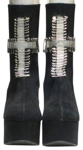 Jeffrey Campbell $109.47 Black and Silver Pins Boots