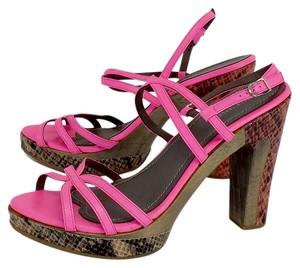 Rebecca Taylor Hot Pink Strappy Heels Sandals