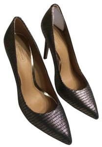 Coach Gunmetal Pumps