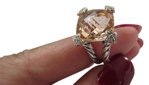 David Yurman Cushion on Point Collection 15mm Morganite Ring