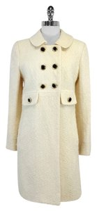 MILLY Cream Wool Coat