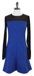 Tibi short dress Blue Black Long Sleeve Mixed Media on Tradesy