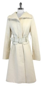 Mackage Cream Wool Belted Coat