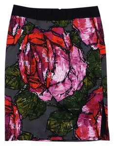 Trina Turk Large Floral Print Pencil Skirt