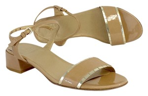 Stuart Weitzman Nude Patent Leather Sandals