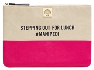 Kate Spade Pink/canvas Clutch