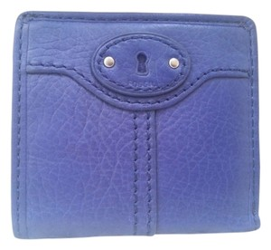 Fossil Fossil Blue Maddox Leather Bifold Wallet