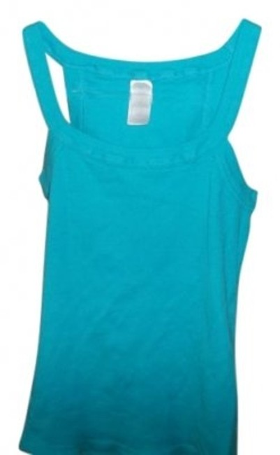 Preload https://img-static.tradesy.com/item/13088/hanes-turquoise-thin-strapped-tank-topcami-size-8-m-0-0-650-650.jpg