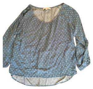 Ann Taylor LOFT Top Blue and white