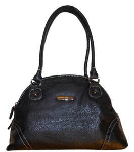 Koltov Collections Vegan Faux Leather Satchel in black
