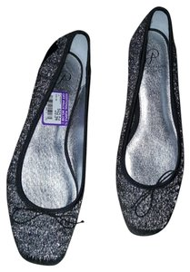Adrianna Papell silver and black Flats