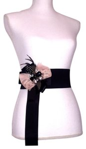 bebe Embellished Feather Belt
