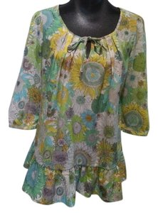 Liberty of London for Target Tunic Ruffled Spring Top Multi-Color