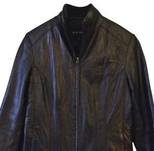 Nine West Genuine Leather Like New Leather Jacket