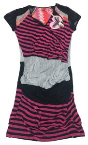 Custo Barcelona short dress Pink Black Gray on Tradesy