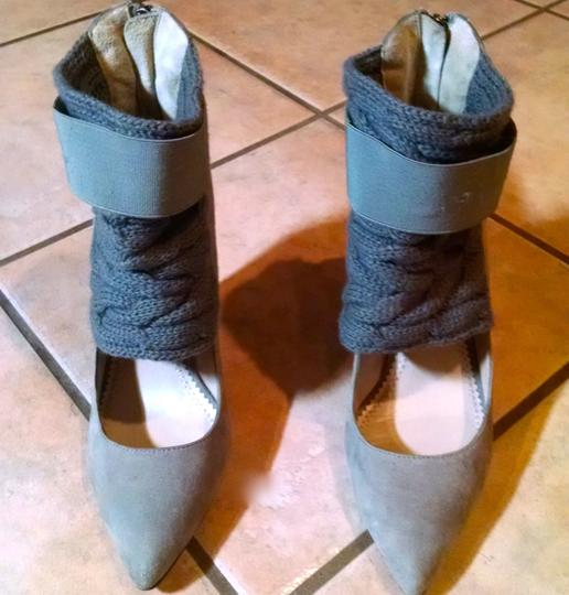 Jean-Michael Cazabat Jean Michael Cazabat Heels Size 8 Size 38 Gray Wedges