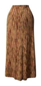Just My Size Skirt yellow, brown, black, coral multi