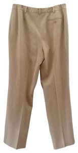 Brooks Brothers Wool Slacks Classic Chic Relaxed Pants Beige