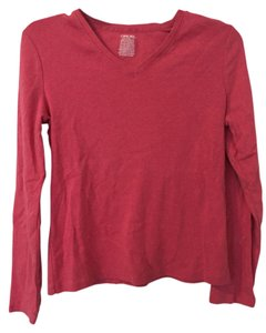 Cherokee V-neck Cotton Layer T Shirt Pink
