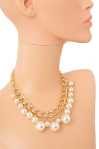 Super Cute Faux Pearl Neclace/Gold